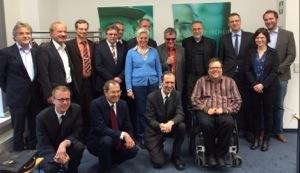 Foto vom Treffen der Behindertenbeauftragten mit der Monitoringstelle