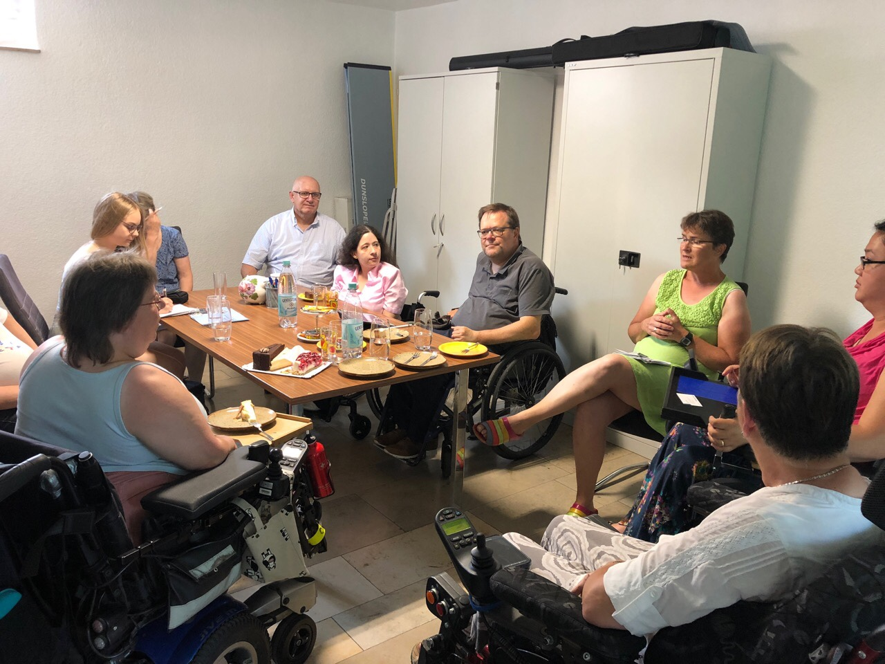 Gesprächsrunde in den Räumen des. ZsL Bad Kreuznach