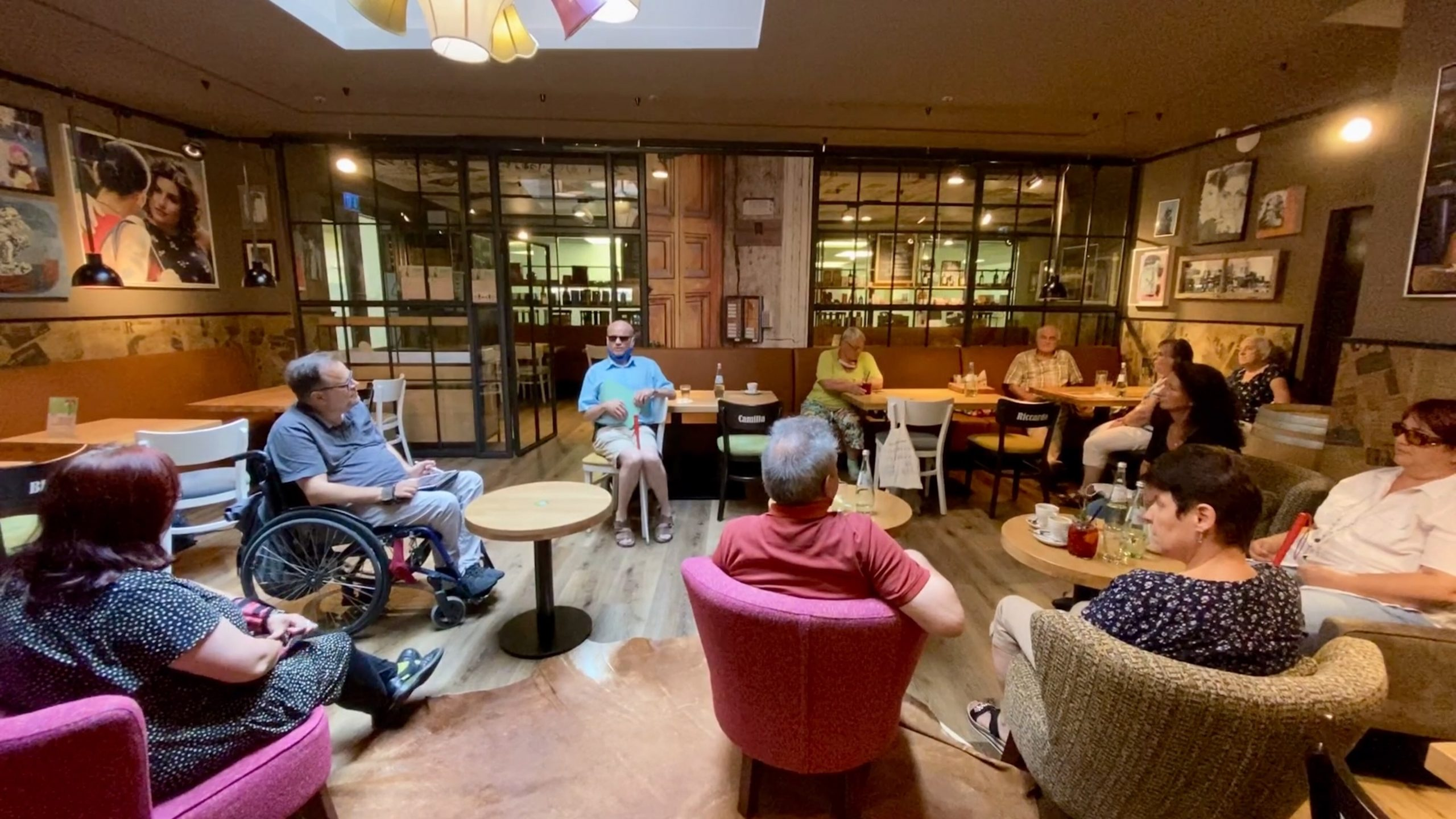 Gesprächsrunde mit dem Blinden – und Sehbehindertenbund sowie der Vorsitzenden des Inklusionsbeirats Kaiserslautern