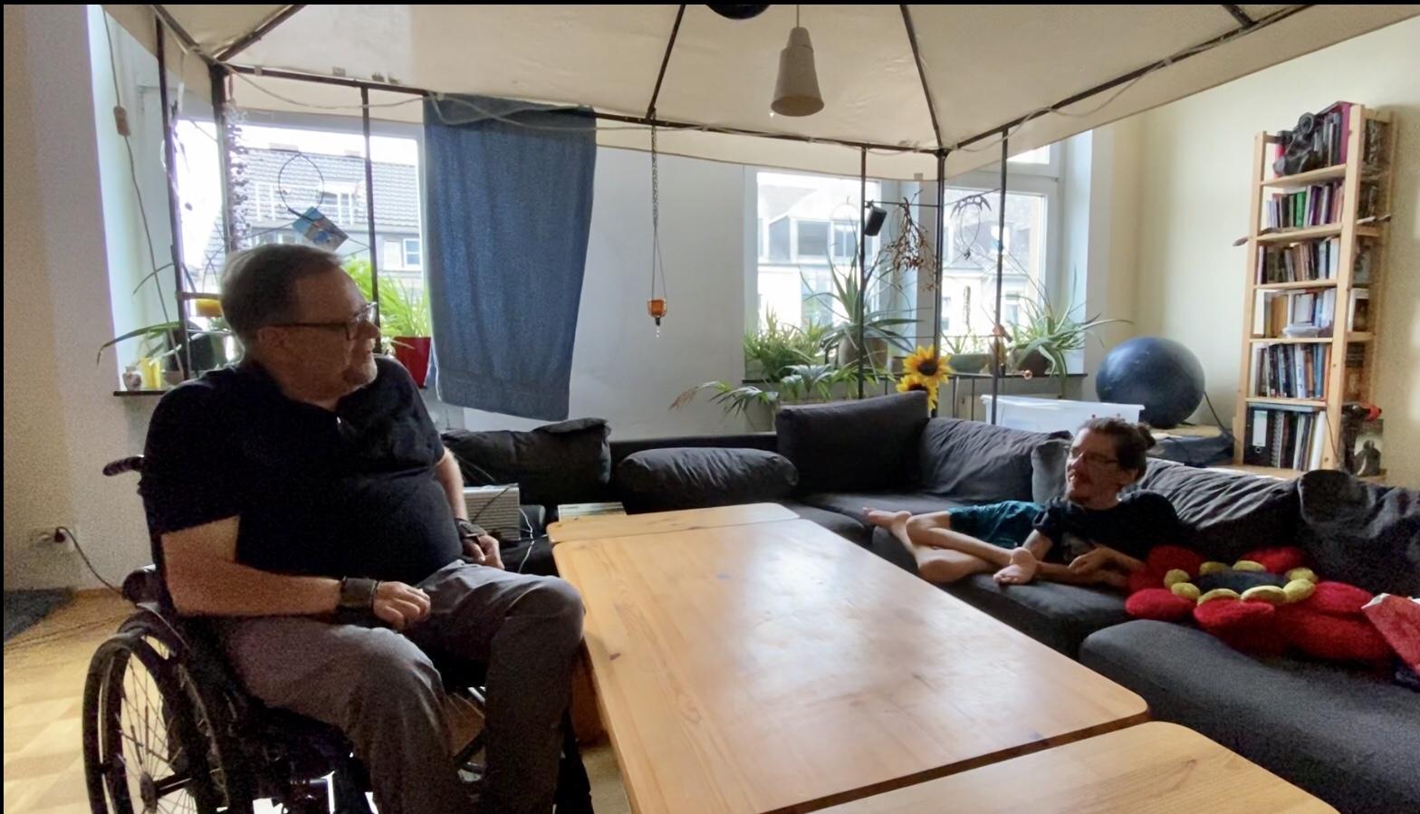 Gespräch in der Wohnung mit Christian Bayerlein